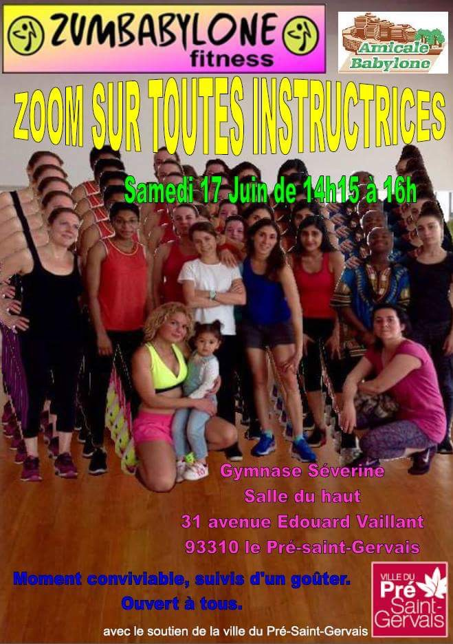 Zumba 17 juin « toutes instructrices »